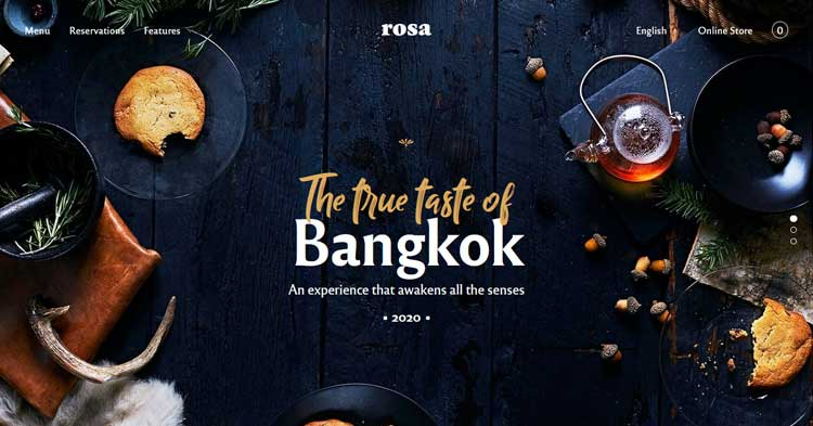 Download Rosa 2 Restaurant / Cafe WordPress Theme