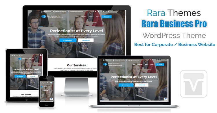Download RaraThemes - Rara Business Pro Theme for Corporate or Professional Business websites