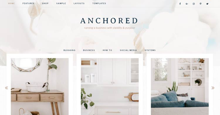 Anchored Theme Genesis Child WordPress