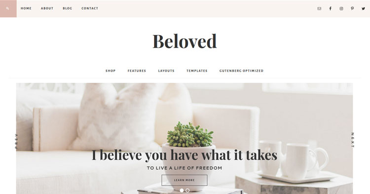 Download Beloved Theme for Bloggers, Entrepreneurs