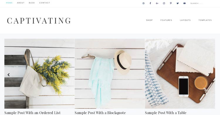 Captivating Genesis WordPress Theme