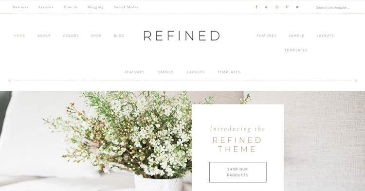Refined Genesis WordPress Theme