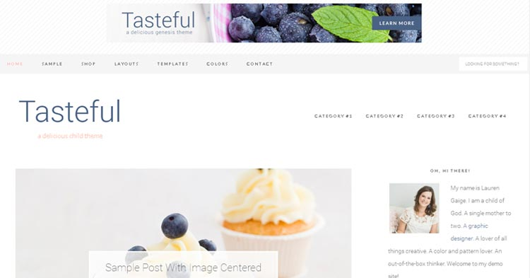 Download Tasteful Theme for Food Bloggers