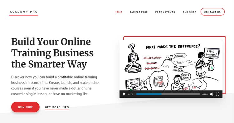 Download Academy Pro Educational WordPress Theme