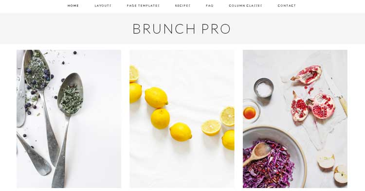 Brunch Pro Food Blog WordPress Theme