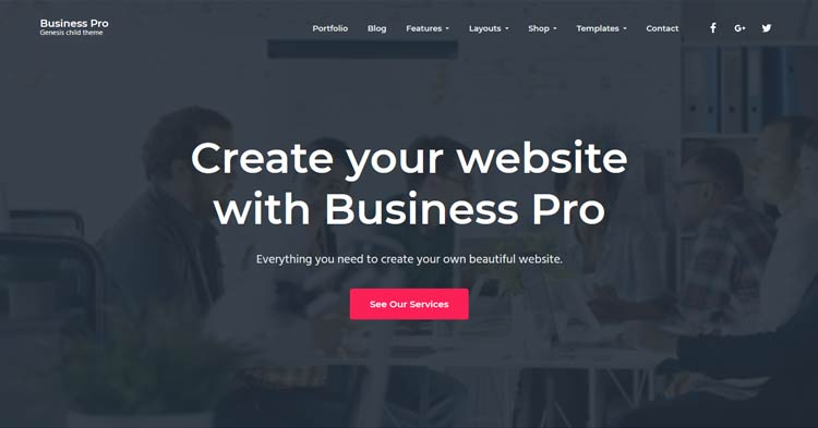 Download Business Pro Genesis WordPress Theme