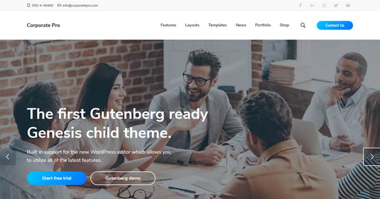 Download Corporate Pro Genesis WordPress Theme