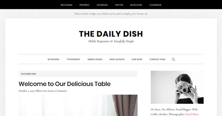 Daily Dish Pro Genesis WordPress Theme