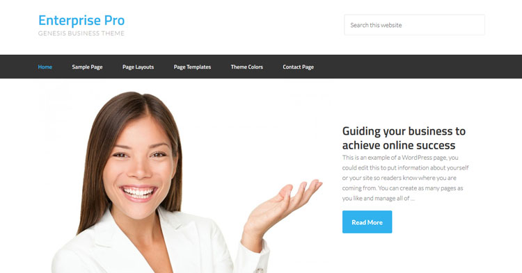 Enterprise Pro WordPress Theme
