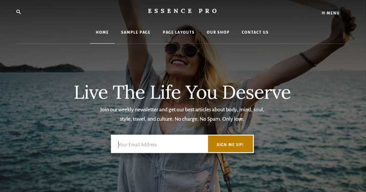 Essence Pro Genesis WordPress Theme