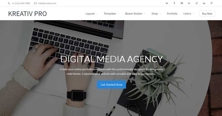 Download Kreativ Pro Agency WordPress Theme