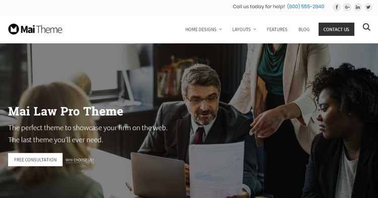 Download Mai Law Pro WordPress Theme