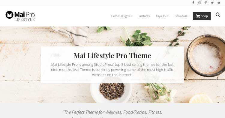 Download Mai Lifestyle Pro WordPress Theme