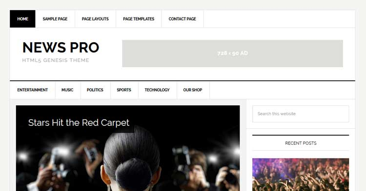 Download News Pro Genesis WordPress Theme