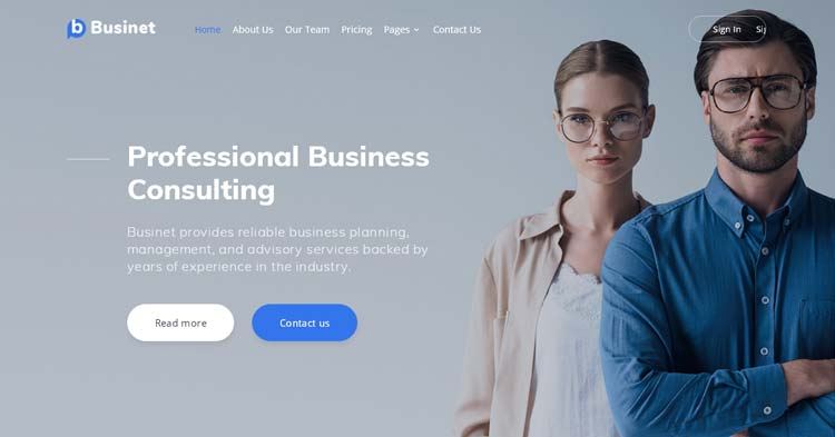 Businet Business Consulting Template