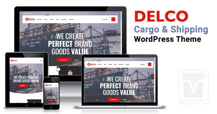 Delco - Logistics, Transport, Cargo & Shipping WordPress Theme
