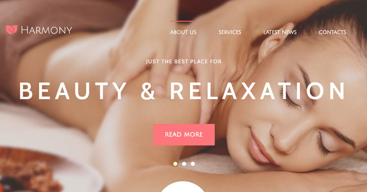 Download Harmony Spa Massage Joomla Template