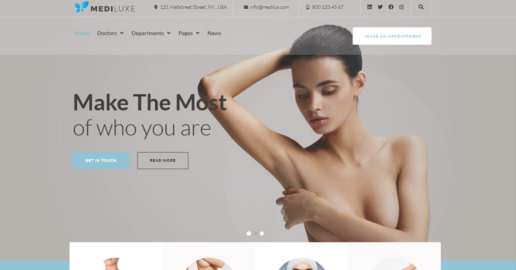 Download Mediluxe Plastic Surgery WordPress Theme