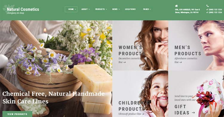 Download Natural Cosmetics Store Template