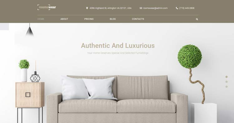 Download Roomswear Furniture WordPress Theme