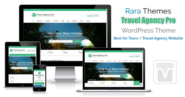 Download RaraThemes - Travel Agency Pro WordPress Theme for Tour and Travel Companies
