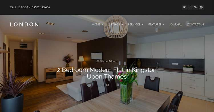 Download WPCasa London Real Estate Theme