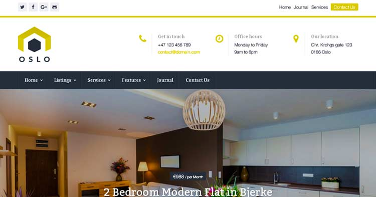 Download WPCasa Oslo Real Estate Theme