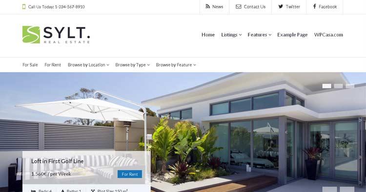 WPCasa Sylt Real Estate WordPress Theme