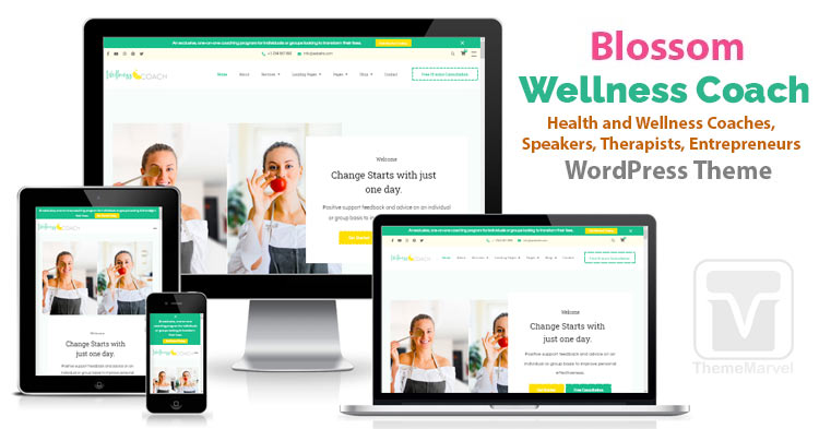 BlossomThemes - Download Wellness Coach WordPress Theme for health coaches, mentors, therapists etc.