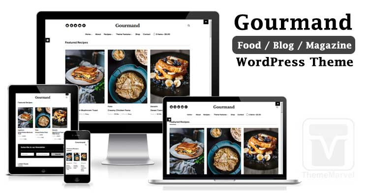 Gourmand - Classy WordPress Theme for Your Food Blog - Download and try on your website!